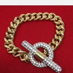 Vintage Park Lane Bracelet Encrusted Rhinestones